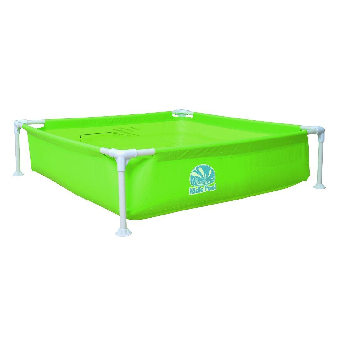 Kids pool frame 120 viereckiger kinderpool 122x122x33 cm planschbecken ebay - Viereckiger pool ...