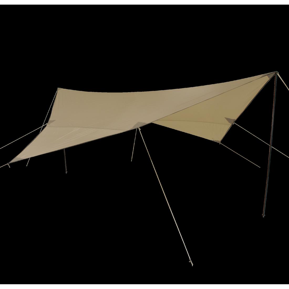 10t shade sail tarp iii 500x500 beige incl poles hh 2000mm. Black Bedroom Furniture Sets. Home Design Ideas
