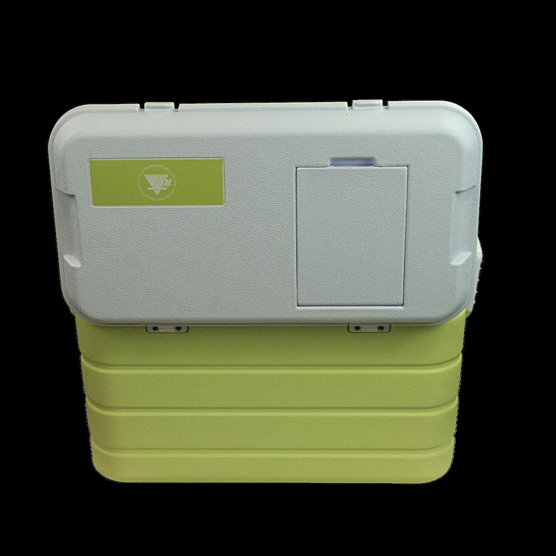 fridgo 40 k hlbox passiv 40 liter integriertem k hl akku. Black Bedroom Furniture Sets. Home Design Ideas