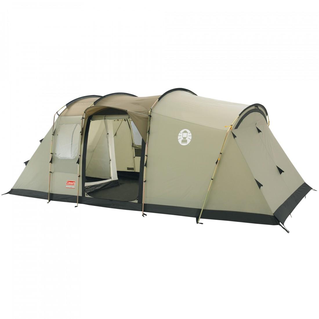 coleman 6 personen tunnel zelt mackenzie cabin 6 ws 4000mm ebay. Black Bedroom Furniture Sets. Home Design Ideas