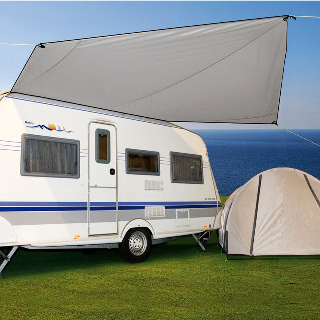 bo camp tarp caravan sonnensegel f r wohnwagen 450x350cm