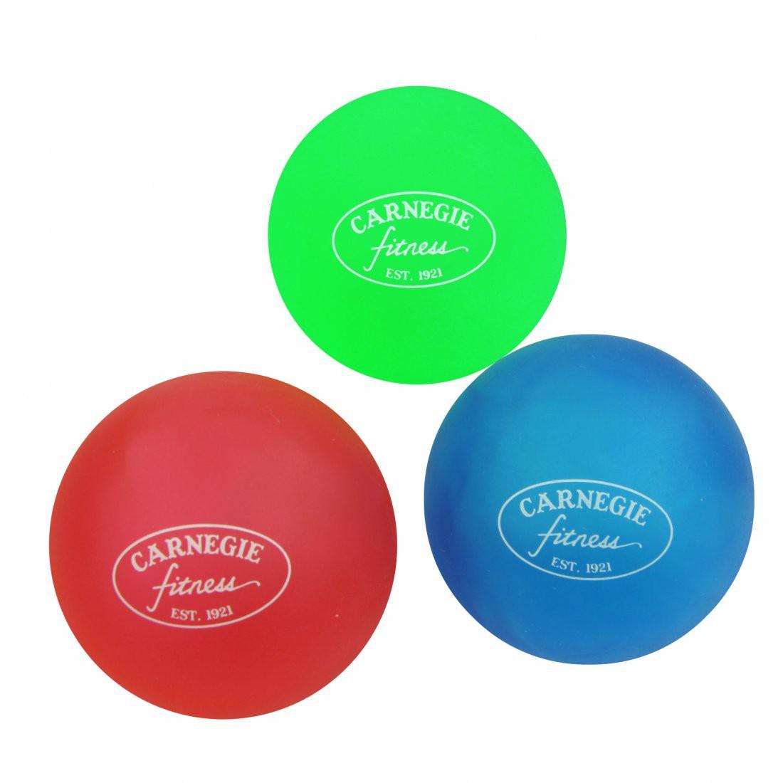 Carnegie Anti Stress Ball - Handtrainer Ball im 12er Set, Fingertrainer mit 3 Widerstandsstufen ´weich`, ´mittel`, ´hart`
