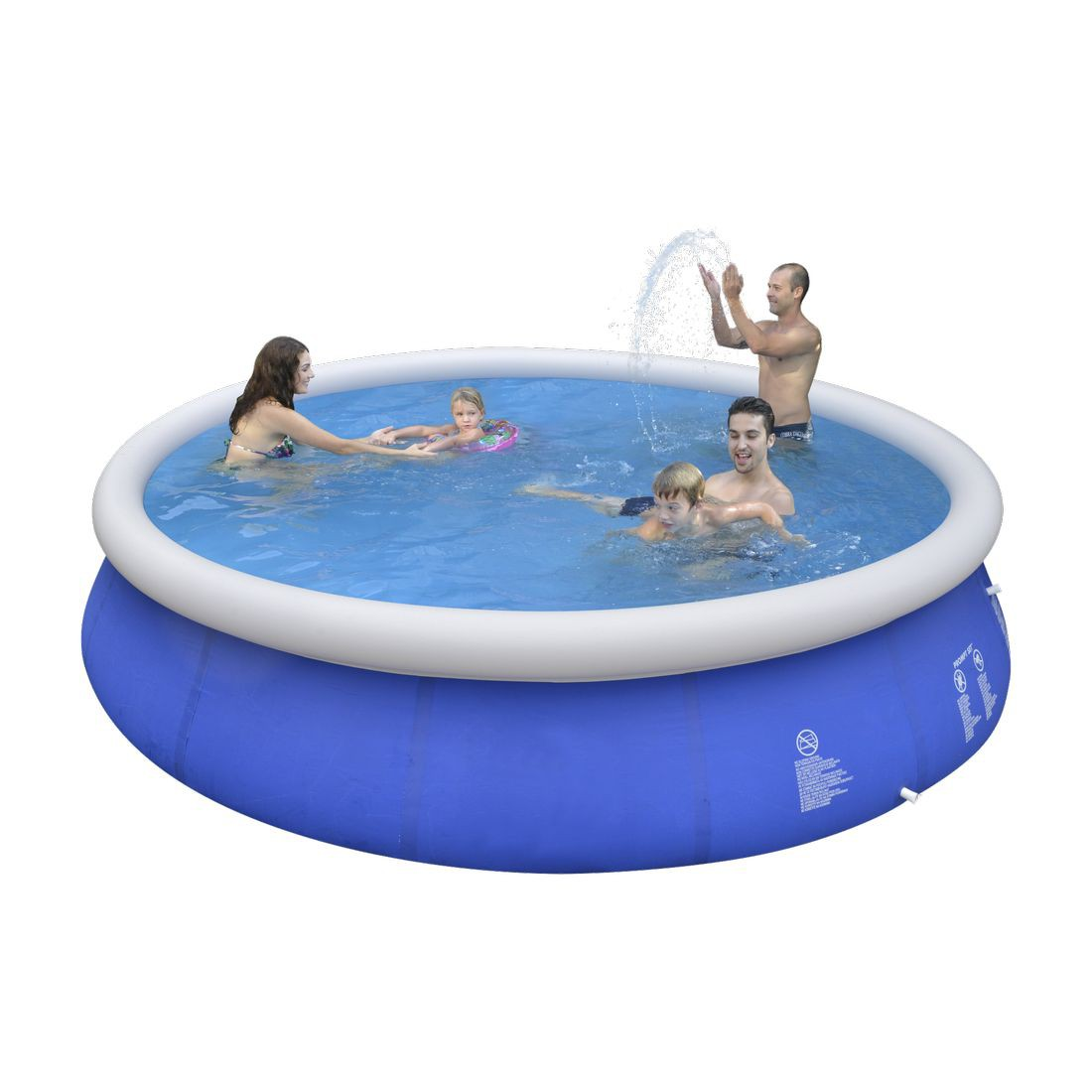 Jilong marin blue 450 quick up pool 450x90cm watersport for Quick up pool oval