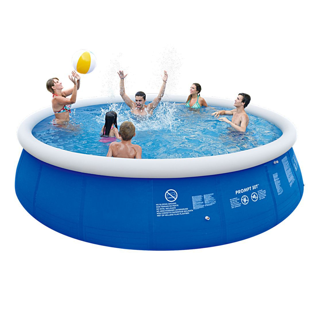 Jilong marin blue 540 set quick up pool set 540x122cm for Quick up pool oval