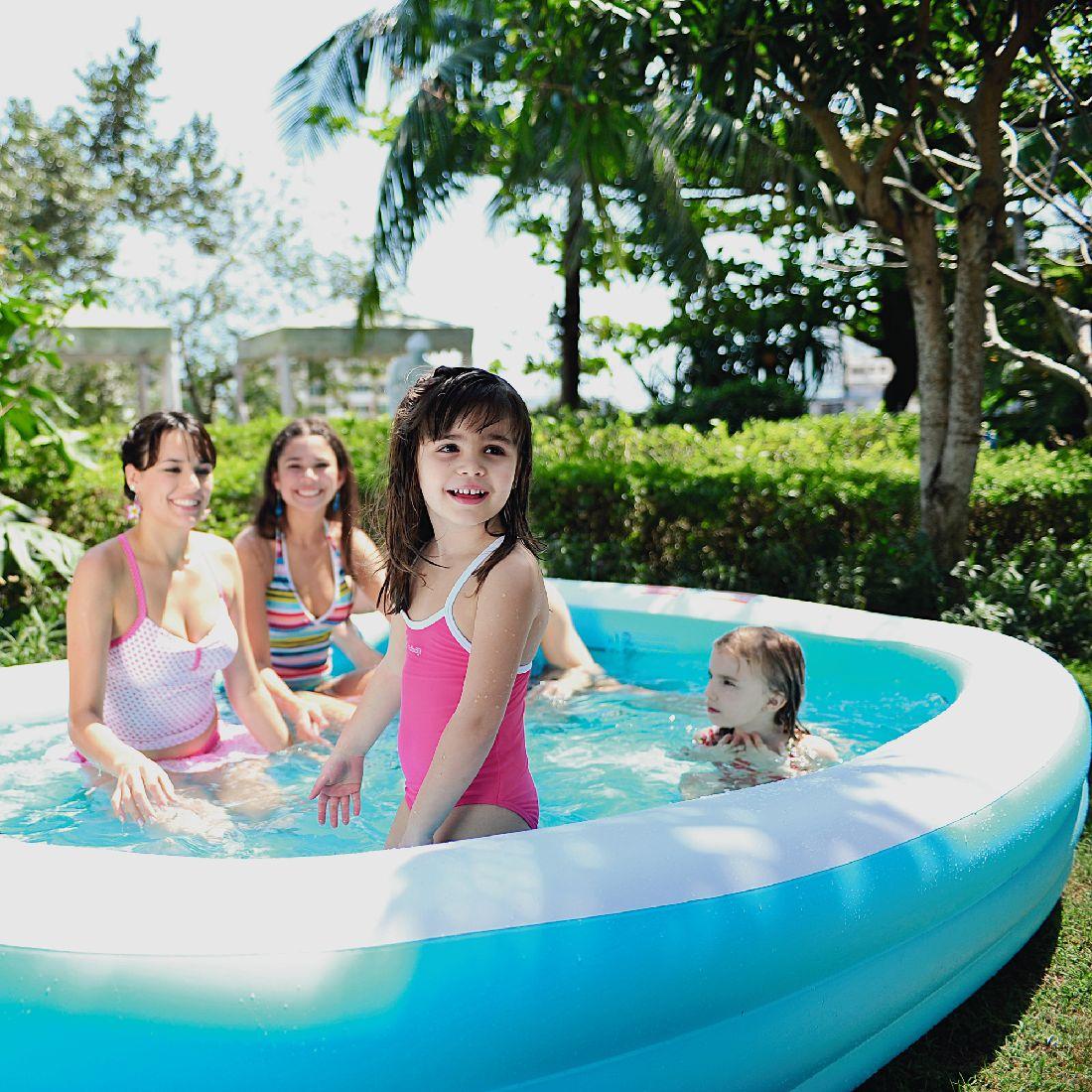 Jilong giant pool 3r366 piscine familiale rectangulaire - Rechteckiger pool ...