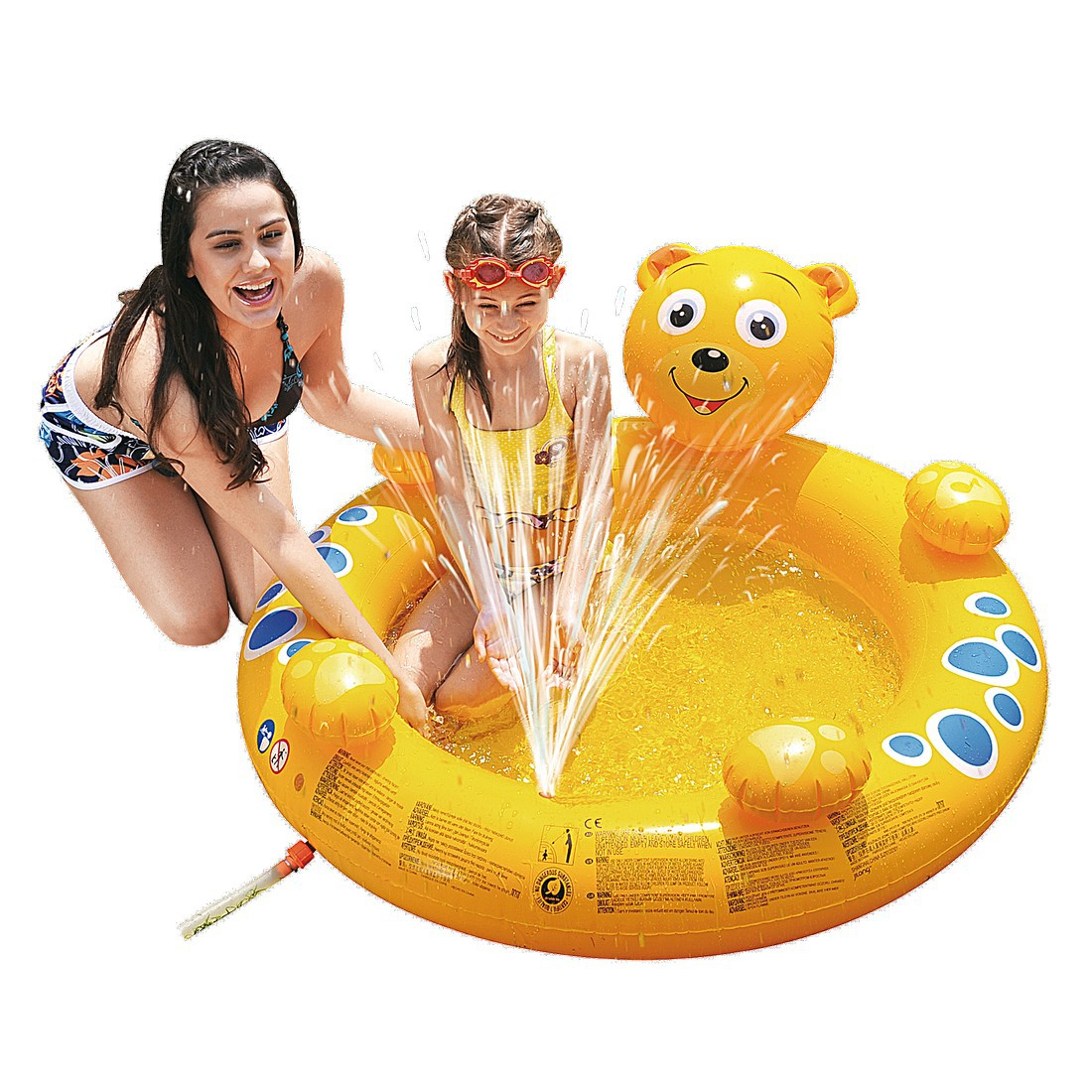 jilong bear spray pool kinder planschbecken mit wasserspr her f r kinder von 2 6 jahren. Black Bedroom Furniture Sets. Home Design Ideas