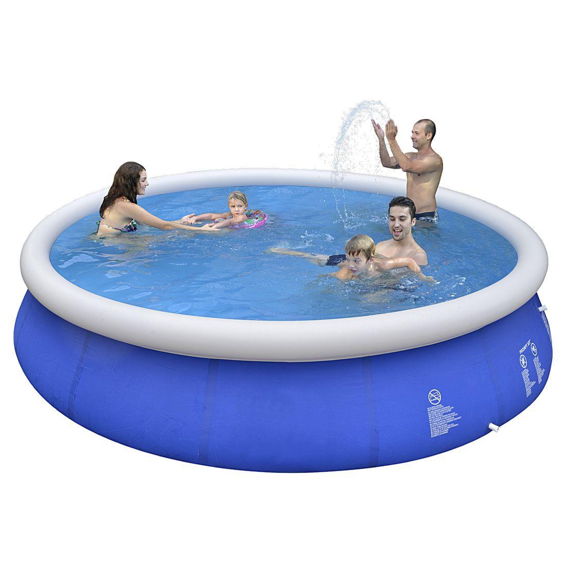 Jilong prompt set pool marin blue 450 set kit piscine for Bache fond piscine