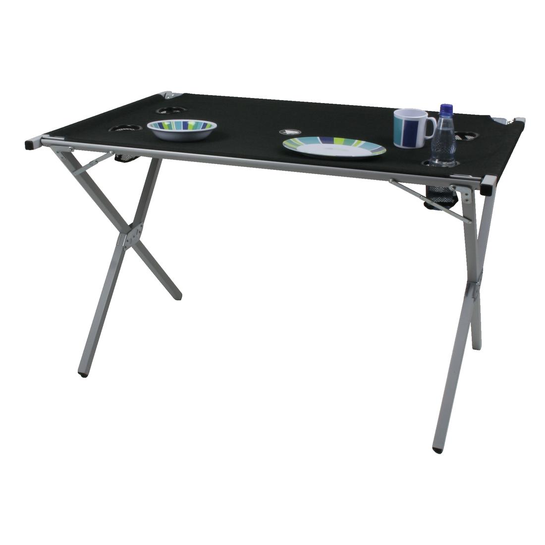 10t polytab double mobiler camping tisch mit tuchoberf che 110x70cm in handlic ebay. Black Bedroom Furniture Sets. Home Design Ideas