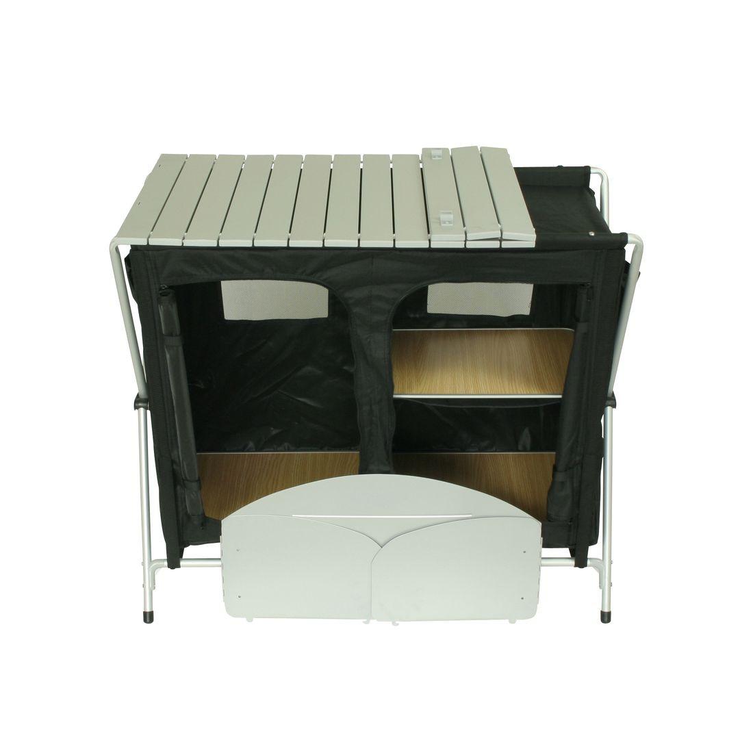 10T Flapbox Kitchen Cucina Da Campeggio 3 Scomparti Piano Di Lavoro  #5C4B28 1100 1100 Piani X Tavoli Ikea