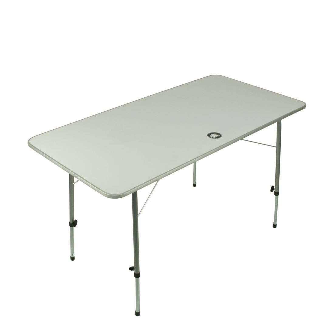 10t Flaprack Double Camping Foldable Table 120x60 Cm Stable Table Top Telescopic Legs