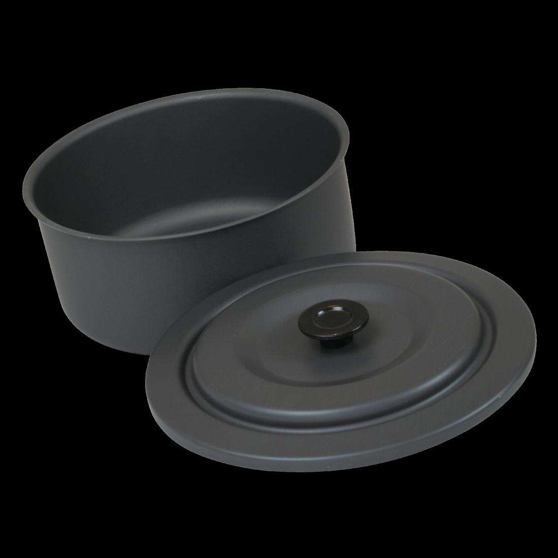 texas 7 teiliges topf und pfannenset mit deckel aluminium eloxiert im netzbeutel. Black Bedroom Furniture Sets. Home Design Ideas