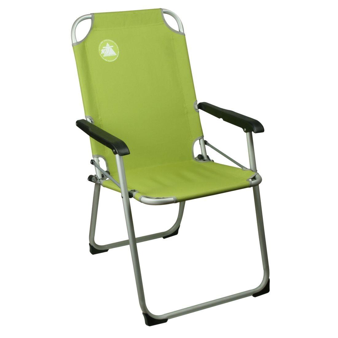 10t lightchair si ge de camping pliant avec accoudoirs vert ch ssis en ac - Chaise de camping pliante carrefour ...