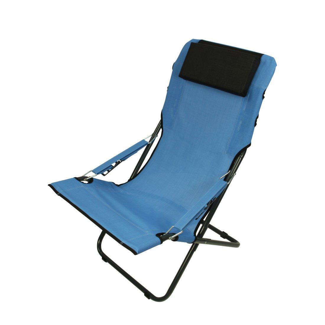 Fridani RCB 100 Camping Chair Garden Chair With Head Cushion 4 Way Adjust