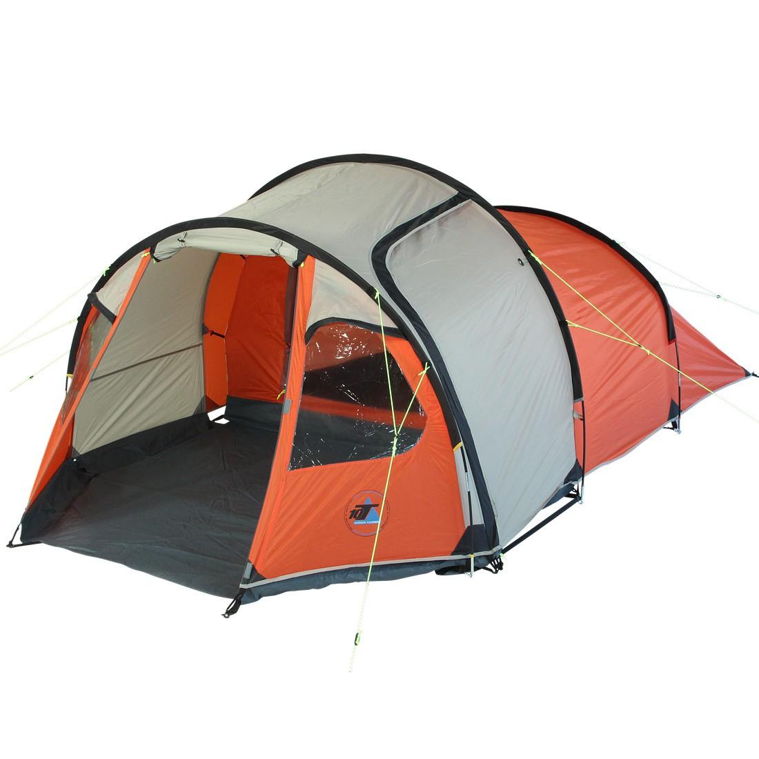 10t mandiga 3 orange tunnelzelt f r 3 personen. Black Bedroom Furniture Sets. Home Design Ideas