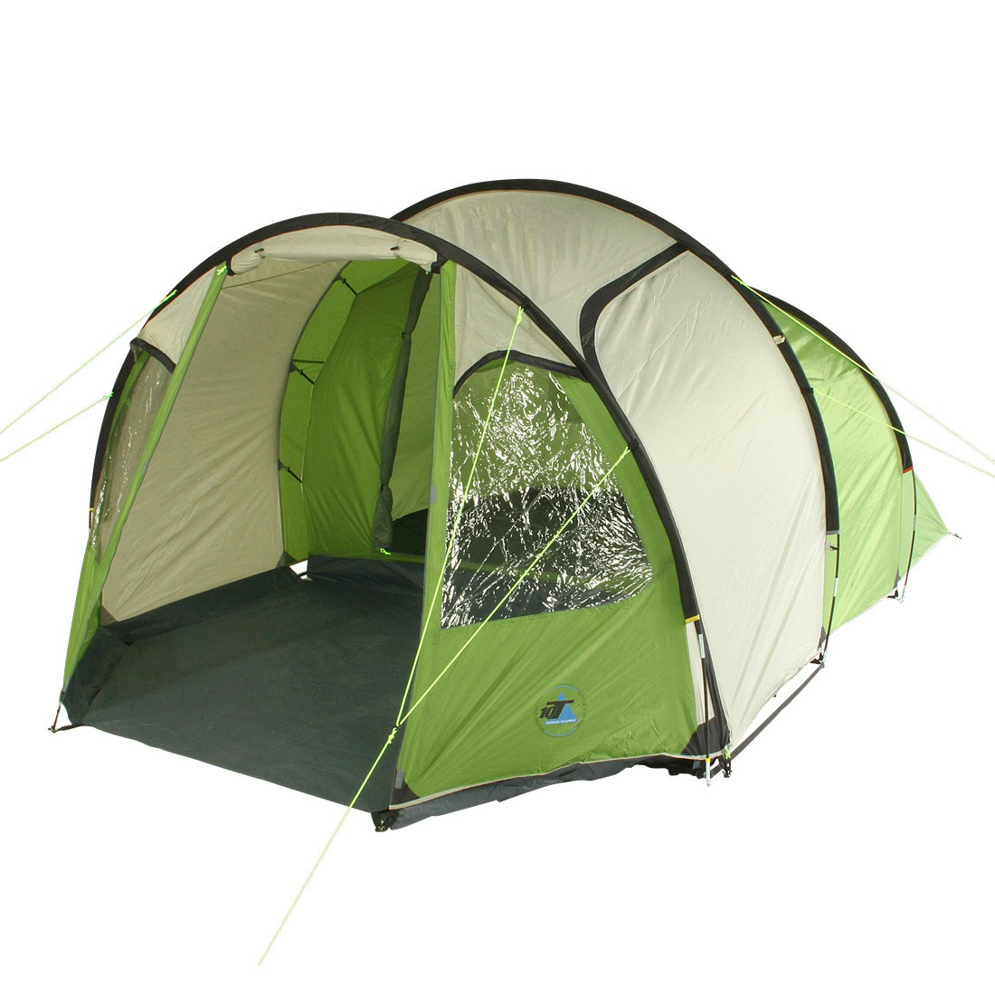 achetez 10t mandiga 4 green tente tunnel pour 4 personnes chapiteau de camping avec grande. Black Bedroom Furniture Sets. Home Design Ideas