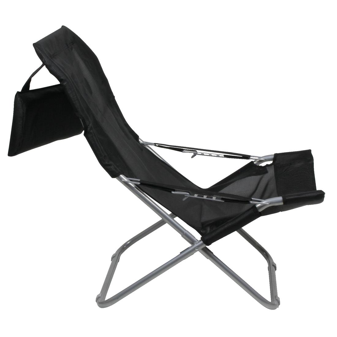 10t maxi chair si ge de camping relax pliant dossier haut avec appui t te rembourr pliable. Black Bedroom Furniture Sets. Home Design Ideas