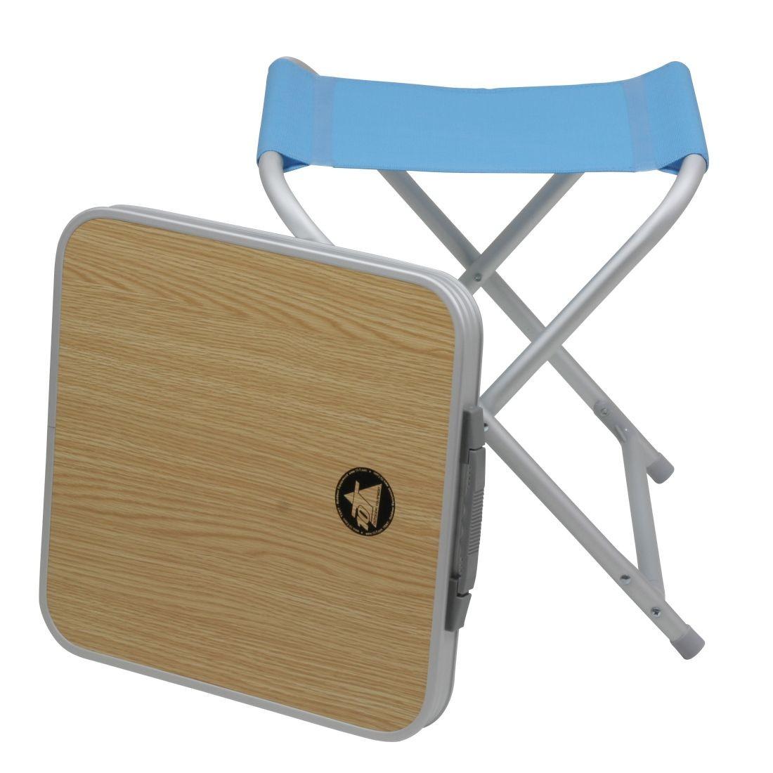 Camping klappstuhl mit tisch  10T Tabstool - 2in1 Camping Hocker-oder-Tisch Kombination ...