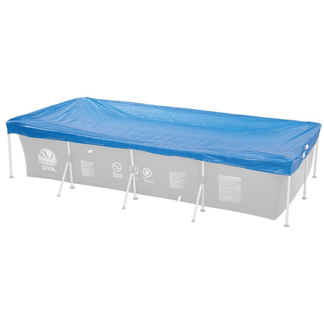 jilong pc 258x179 sfp pool abdeckung f r rechteckige stahlrahmen pools von jilong bei camping. Black Bedroom Furniture Sets. Home Design Ideas