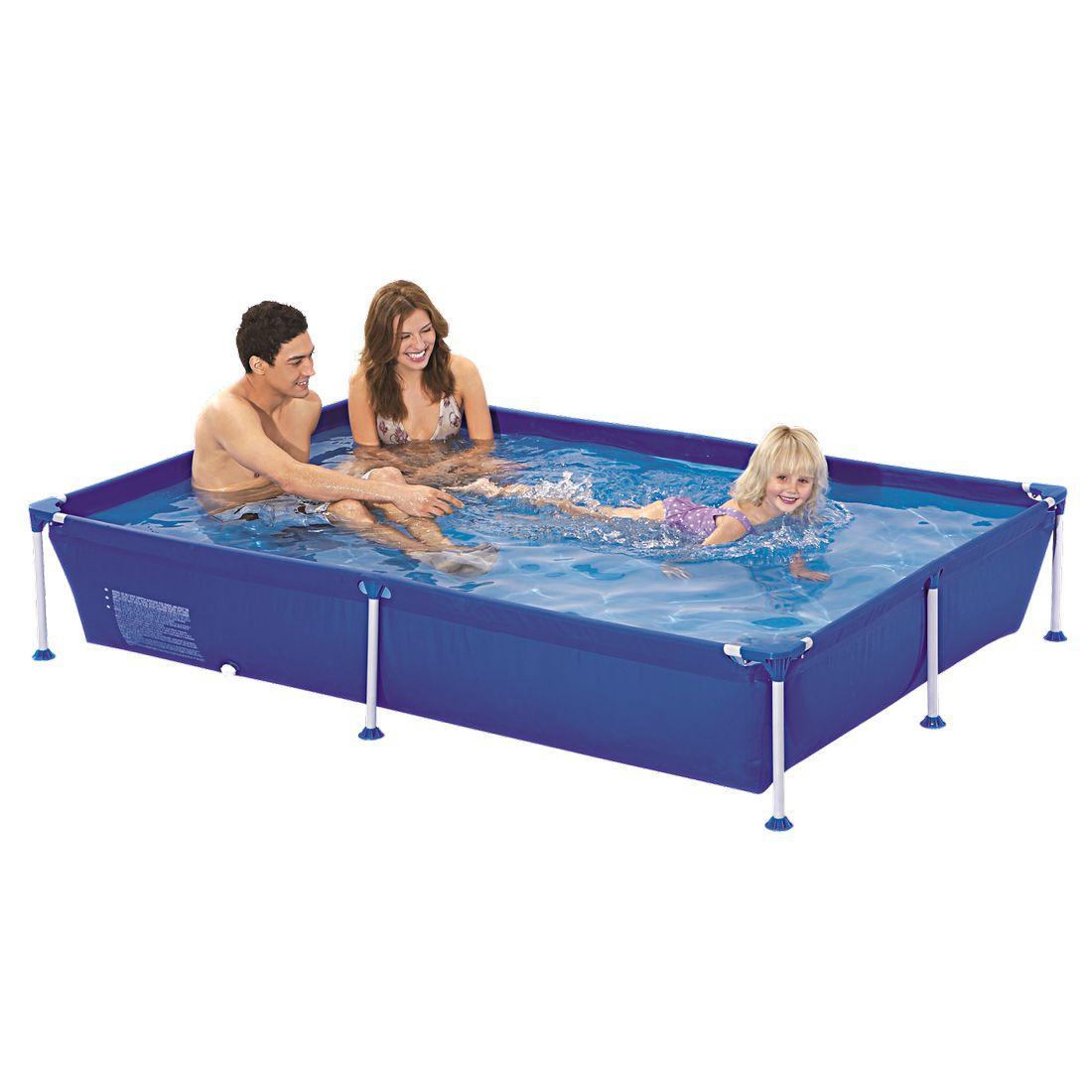 Achetez jilong passaat blue 228 piscine cadre en acier for Piscine en acier rectangulaire