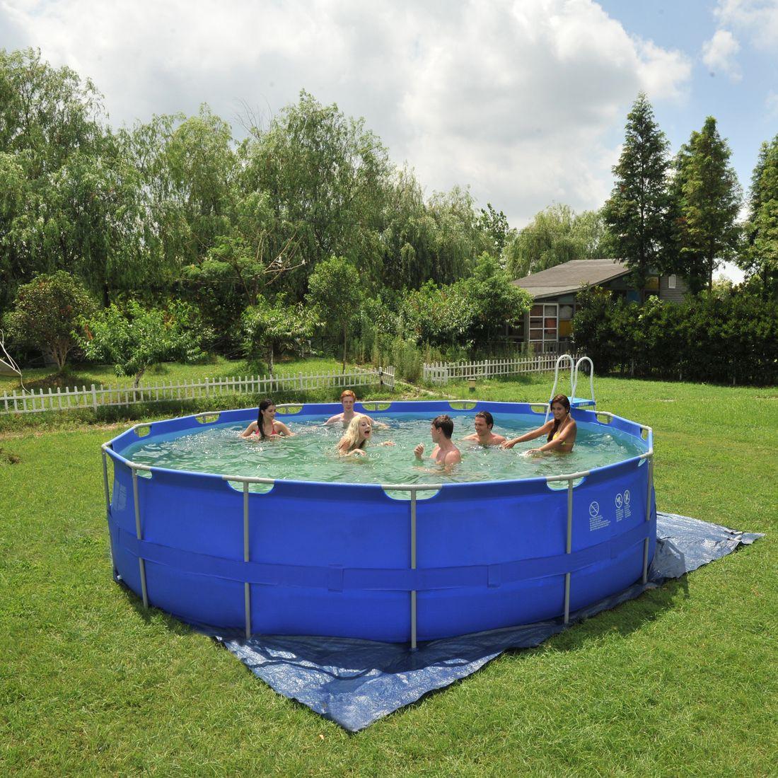 Achetez jilong sirocco blue 540 set piscine cadre en for Accessoire piscine jilong