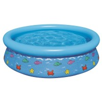 Jilong Kids Prompt Set Pool 150 - Quick-up Kinderpool mit Fisch Motiven, Ø150x38cm, 2 farbig sortiert