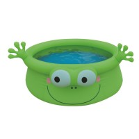 Jilong Frog Pool - grüner Kinder Quick-up Pool mit lustigem 3D Frosch-Motiv, ø175x62 cm