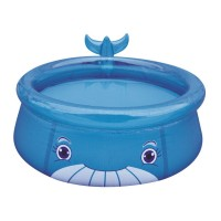 Jilong Whale Pool - blauer Kinder Quick-up Pool mit lustigem 3D Wal-Motiv, ø175x62cm