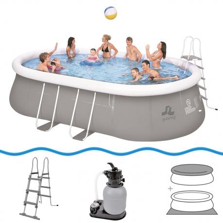Jilong chinook familien swimming pool set 540x304x106 for Fast set gartenpool
