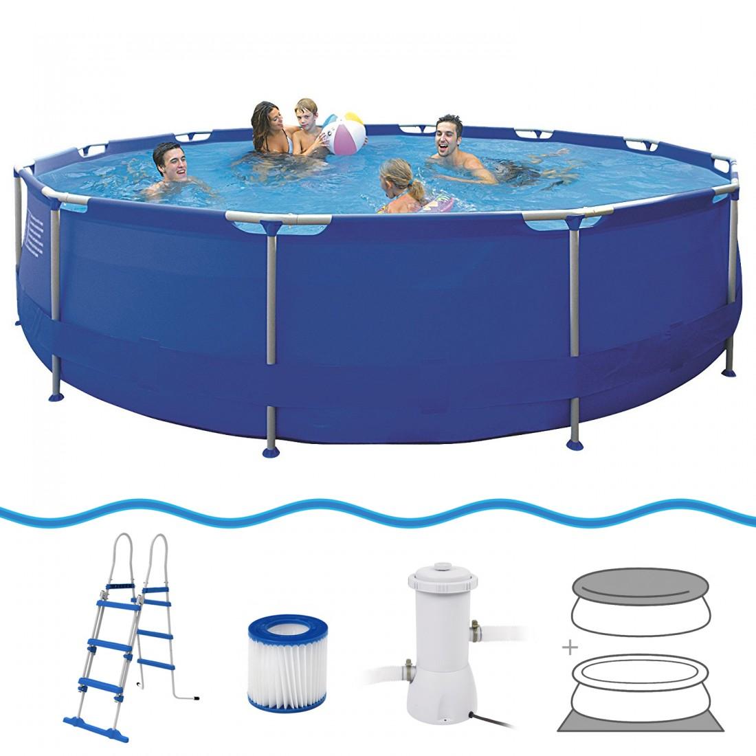 Achetez jilong sirocco blue 450 set piscine cadre en for Accessoire piscine jilong