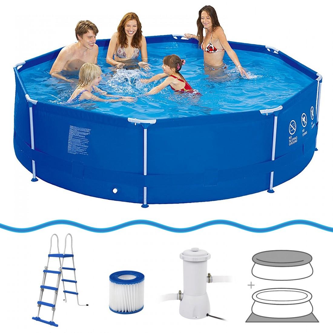 Comprare jilong sirocco blue 540 set piscina con for Comprare piscina