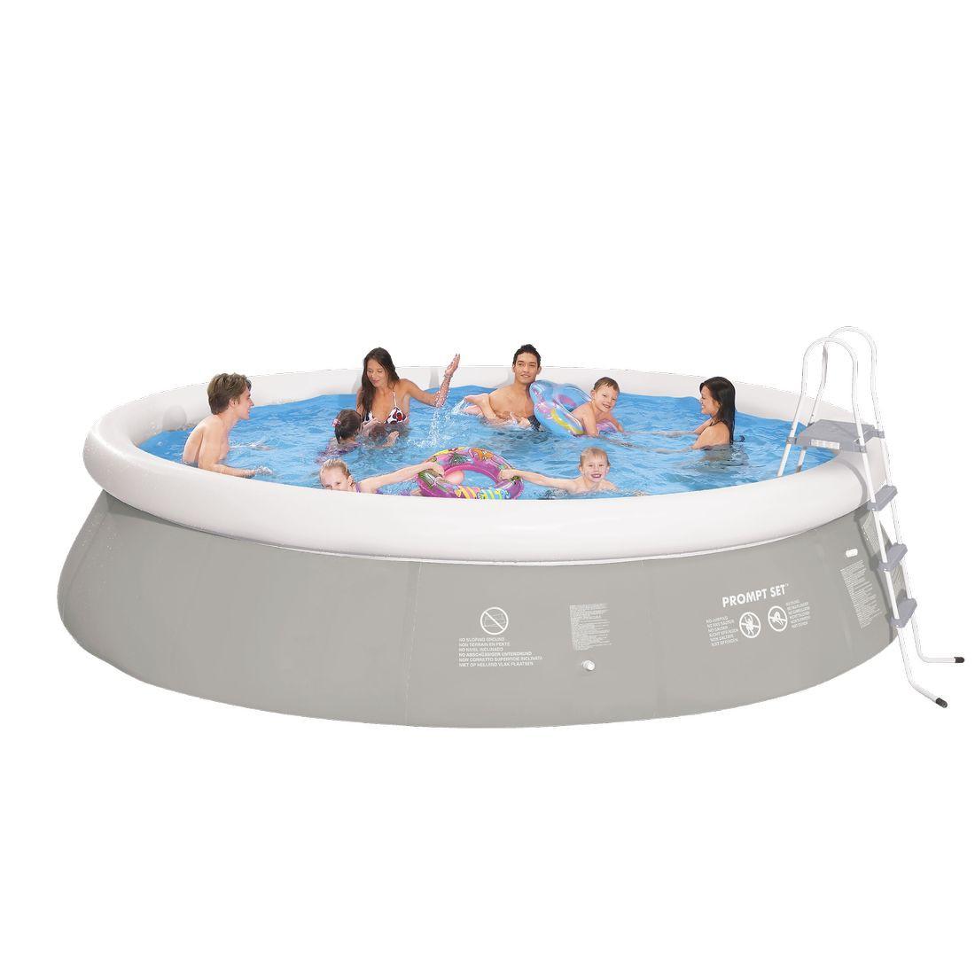 Achetez jilong prompt set pool marin grey 540h set kit for Bache fond piscine