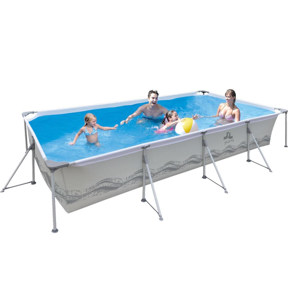 Achetez jilong passaat grey 300 piscine cadre en acier for Piscine rectangulaire acier