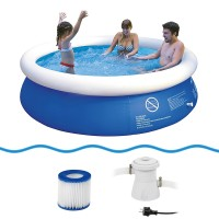 Jilong Prompt Set Pool Marin Blue 240 Set - Quick-up Pool Set mit Filterpumpe 240x63cm