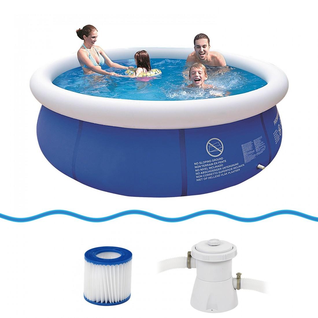 Achetez jilong prompt set pool marin blue 300 set kit for Accessoire piscine jilong