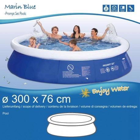 Jilong marin blue set 300x76 familien swimming pool for Fast set gartenpool