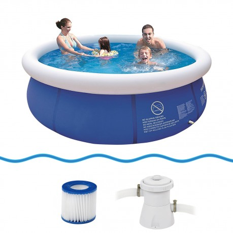 Buy jilong prompt set pool marin blue 300 set quick up for Quick up pool oval