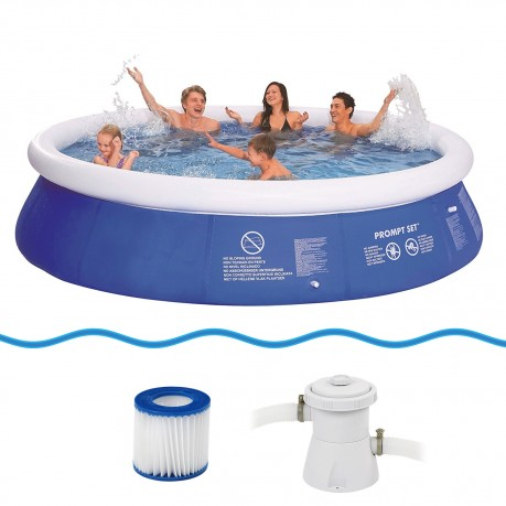 Jilong marin blue set 360x76 familien swimming pool for Fast set gartenpool