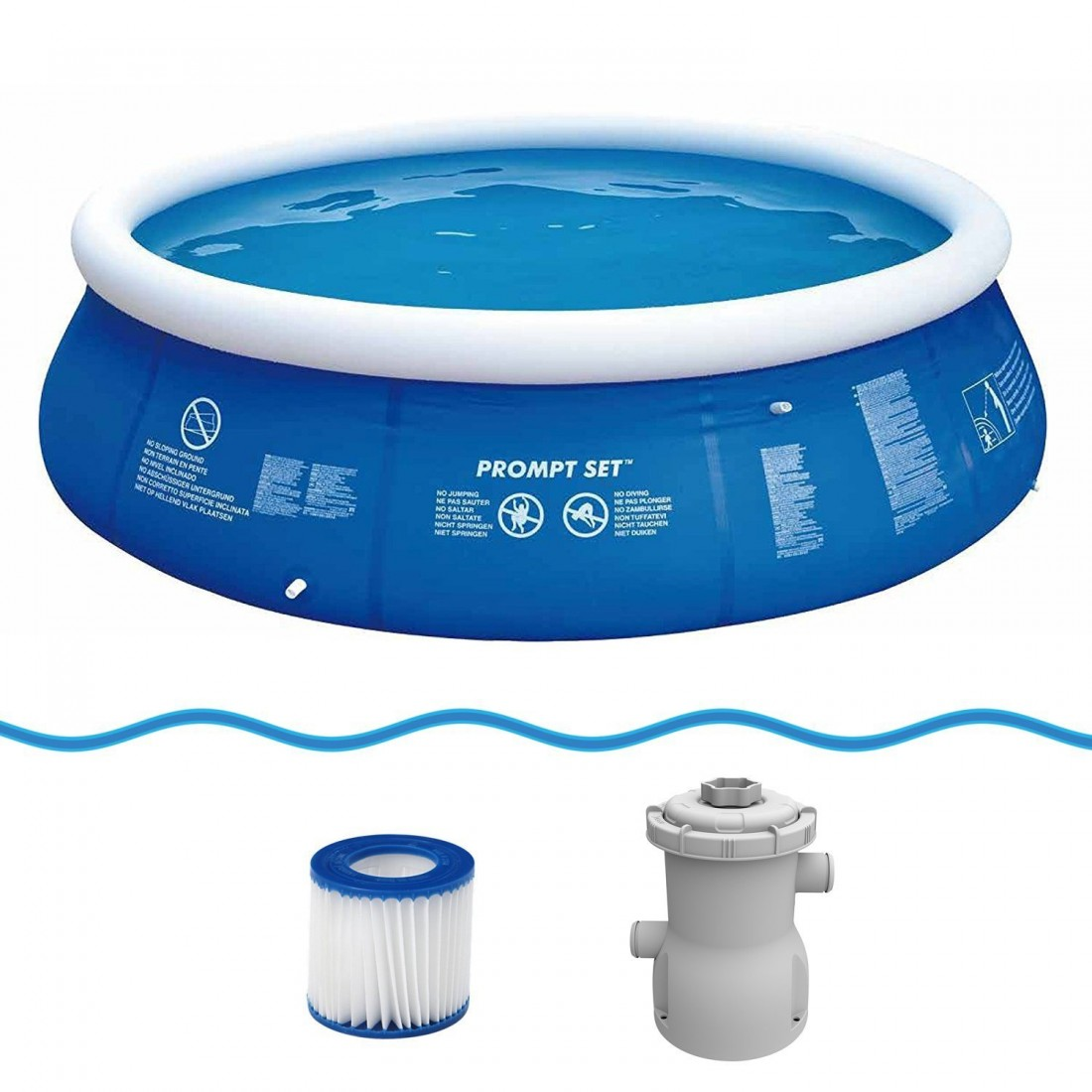 Buy jilong prompt set blue 360 set quick up pool set with filter pump 360x84cm from jilong at - Quick up pool zubehor ...