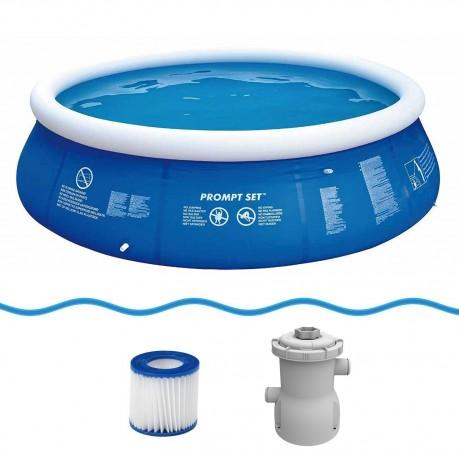 Achetez jilong prompt set blue 360 set kit piscine quick for Accessoire piscine jilong