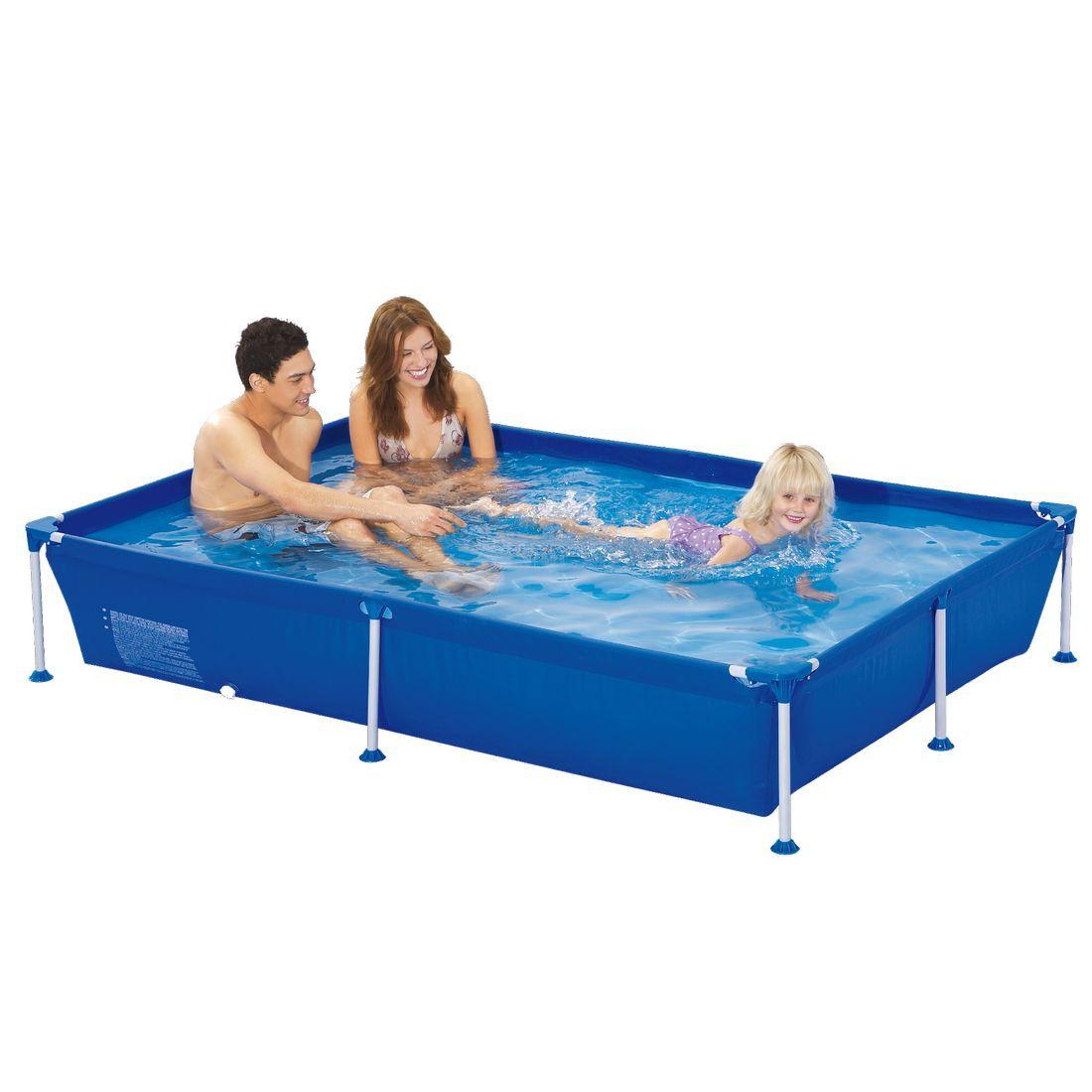 Achetez jilong passaat blue 228 piscine cadre en acier for Piscine rectangulaire acier
