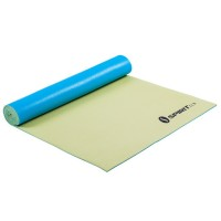 Spirit Anti-Slip Yoga Mat - Matte für Yoga, Pilates, Gymnastik, Fitness, 175x61x0,5 cm, Lemon/Teal